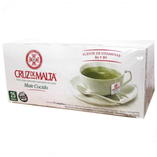 Cruz de Malta Mate Cocido - Instant Brew Mate in Tea Bags (25 tea bags). ArgentinaSelect.com
