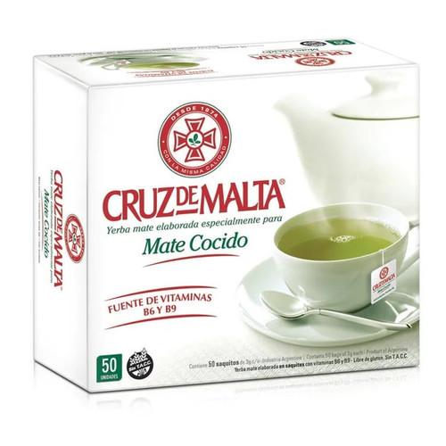 Cruz de Malta Mate Cocido - Instant Brew Mate in Tea Bags (50 tea bags). ArgentinaSelect.com