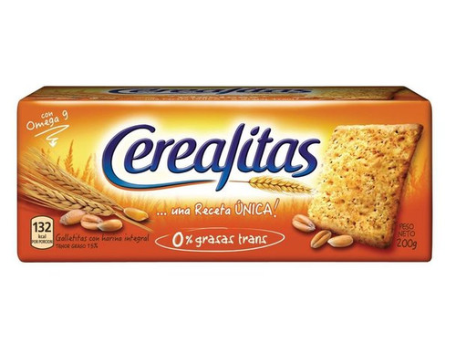 Cerealitas Wholegrain Crackers Galletitas Wholesale Bulk Box, 200 g / 7.1 oz ea (48 count per box)