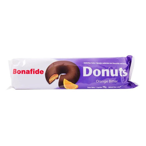 Bonafide Mini Donuts Milk Chocolate with Bitter Orange Cookie, 78 g / 2.8 oz (pack of 3). Only at ArgentinaSelect.com