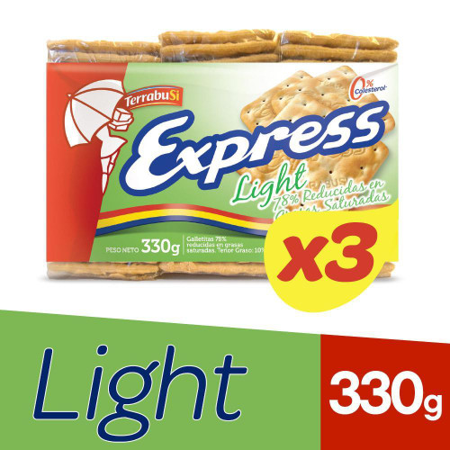 Express Light Water Biscuits Galletitas de Agua for Breakfast, Brunch & Tea, 110 g / 3.88 oz (pack of 3)