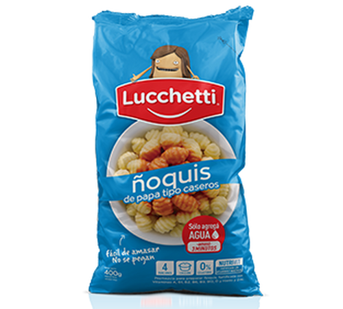 Lucchetti Ready to Make Gnocchi Flour Ñoquis Just Add Water, 500 g / 17.7 oz. Argentina Select.