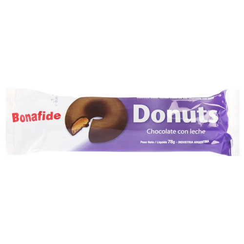 Bonafide Mini Donuts Milk Chocolate with Cookie, 78 g / 2.8 oz (pack of 3). ArgentinaSelect.com