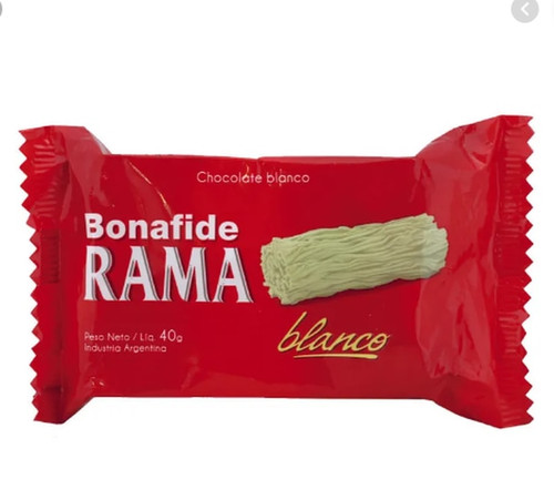 Bonafide Rama White Handcrafted Branched Chocolate, 40 g / 1.4 oz (pack of 3). Only at ArgentinaSelect.com