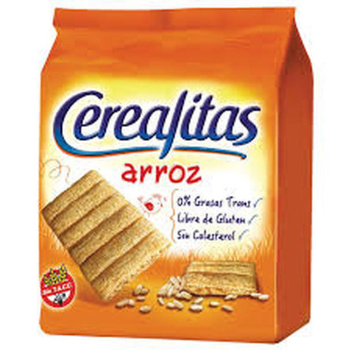 Cerealitas Arroz Puffed Rice Cookies Very Light Gluten-Free, 160 g / 5.6 oz