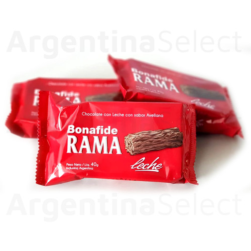 Bonafide Rama Negro Handcrafted Branched Milk Chocolate, 40 g / 1.4 oz (pack x 3). ArgentinaSelect.com