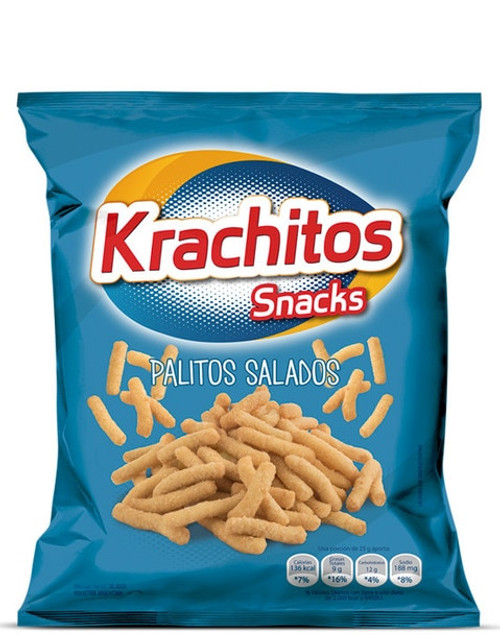Krachitos Palitos Salados Super Bag, 800 g / 28.2 oz bag. Argentina Select.