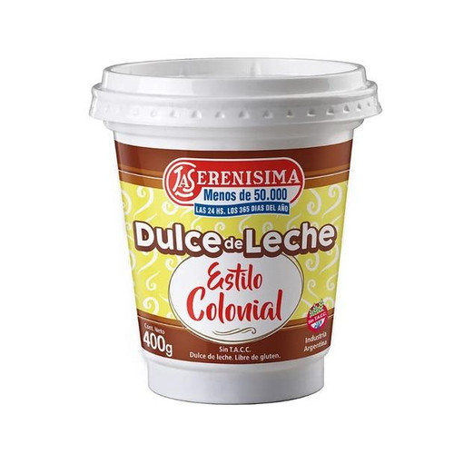 La Serenísima Dulce de Leche Colonial Thicker Traditional Recipe (400 g / 14.1 oz)