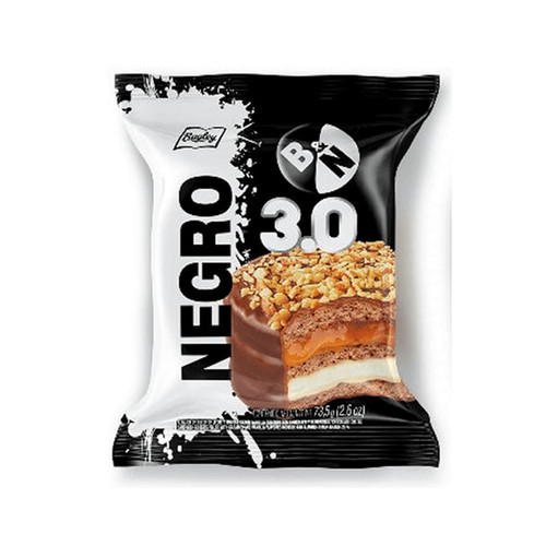 Blanco y Negro Alfajor Triple de Chocolate con Dulce de Leche & Vainilla, 73.5 g / 2.6 oz (pack of 6) - Negro