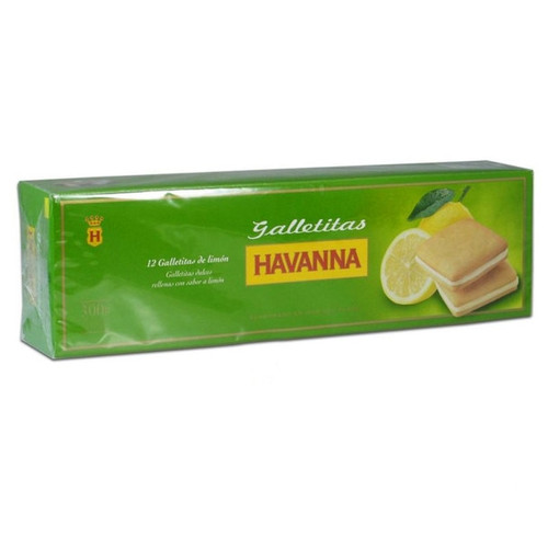 Havanna Lemon Cookies Filled With Creme Lemon 12 units, 300 g / 10.6 oz. Limón. Argentina Select