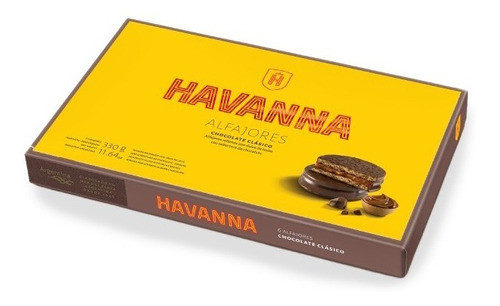 Havanna Alfajor Milk Chocolate Dulce de Leche (box of 6) (Alfajores)
