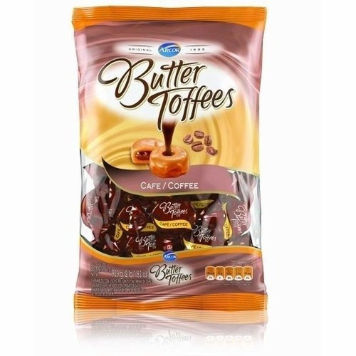 Butter Toffees Soft Buttery Caramel Candies Filled with Coffee Cream Party Bag, 822 g / 1.8 lb bag. ArgentinaSelect.com