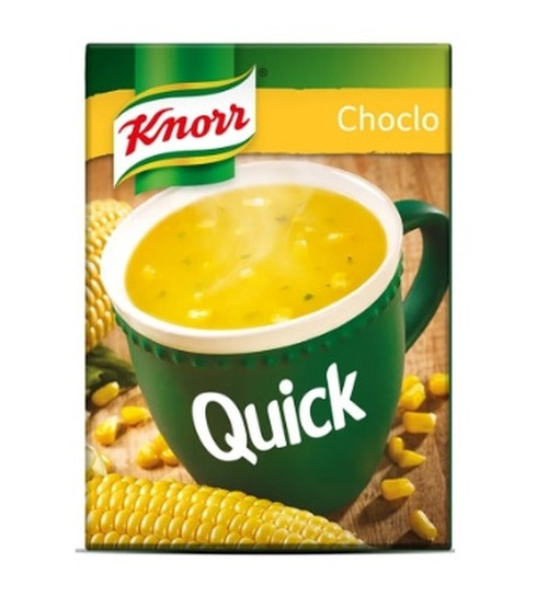 Knorr Quick Ready to Make Soup Corn Choclo, 5 pouches, 50 g / 1.8 oz. Sopa Knorr. Argentina Select.
