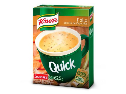 Knorr Quick Ready to Make Soup Chicken with Vegetables, 5 pouches, 50 g / 1.8 oz