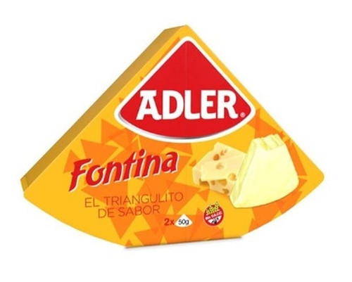 Queso Adler Fontina Cheese, 100 g / 3.5 oz. Argentina Select.