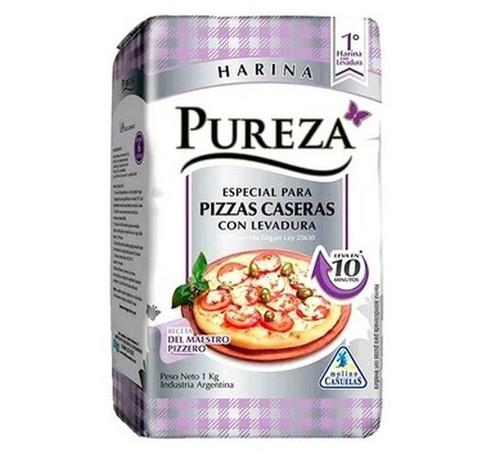 Pureza Harina Para Pizza Self-Rising Leavening Wheat Flour For Pizza, 1 kg / 2.2 lb. Argentina Select.