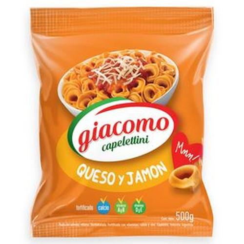 Giacomo Capelettini Queso Y Jam¢n Cheese And Ham Delicious Classic Pasta, 500 g / 17.6 oz bag