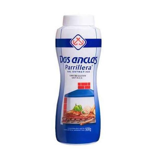 Dos Anclas Sal Parrillera Botella Salero BBQ Salt Bottle, 500g / 1.1 lb. Argentina Select.