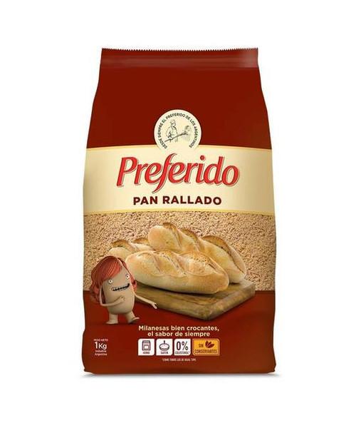 Pan Rallado Preferido for Milanesas & Rebozados, 1 kg / 2.2 lb bag  -  Marron