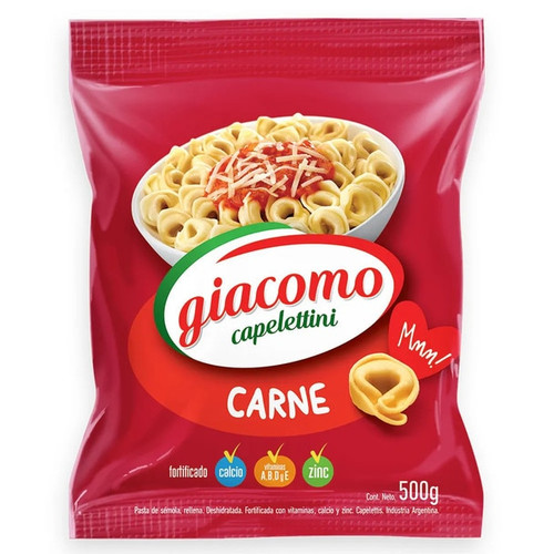 Giacomo Capelettini Carne Meat Delicious Classic Pasta, 500 g / 17.6 oz bag