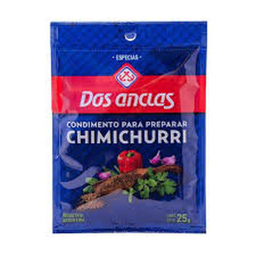 Dos Anclas Condimento Chimichurri Spice Delicious for Meats, Asado & Fish, Especias 25 g / 0.88 oz pouch (pack of 3)