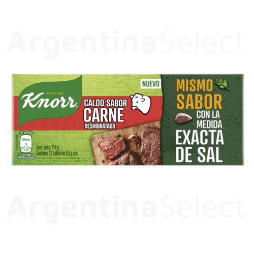 Knorr Calditos Carne Dehydrated Meat Soup Broth, 114 g / 4.02 oz (12 caldos per box)