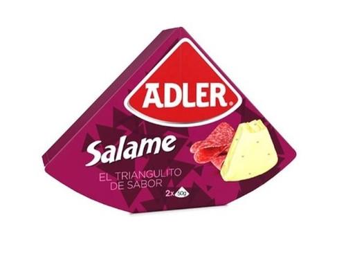 Queso Adler Salame Salami Flavored Cheese, 100 g / 3.5 oz
