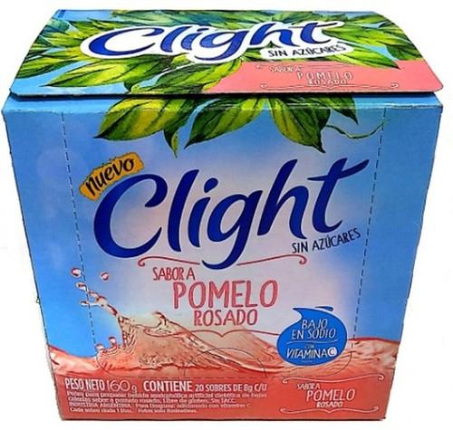 Jugo Clight Pomelo Rosado Powdered Juice Pink Grapefruit Flavor No Sugar, 8 g / 0.3 oz (box of 20). Argentina Select.