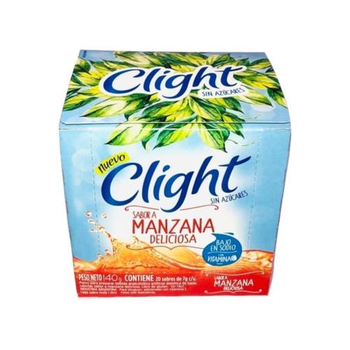 Jugo Clight Manzana Deliciosa Powdered Juice Delicious Apple Flavor No Sugar, 8 g / 0.3 oz (box of 20). Argentina Select.