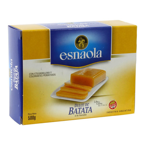 Esnaola Dulce de Batata Sweet Potato Jelly with Subtle Vanilla, 500 g / 1.1 lb sealed bar. ArgentinaSelect.com