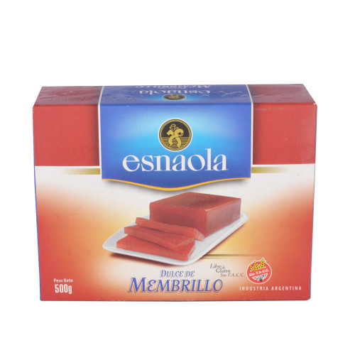 Esnaola Dulce de Membrillo Quince Jelly Sealed Bar for Desserts, Cheese and Cakes, 500 g / 1.1 lb. ArgentinaSelect.com