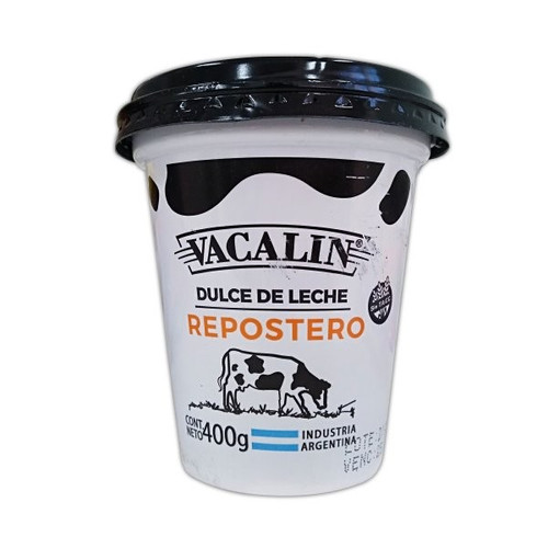 Vacalin Dulce de Leche Reposteria, Confectioner's Thicker Milk Confiture for Bakeries, Cakes and Pastry, 400 g / 14,1 oz plastic bin. Only at Argentina Select.