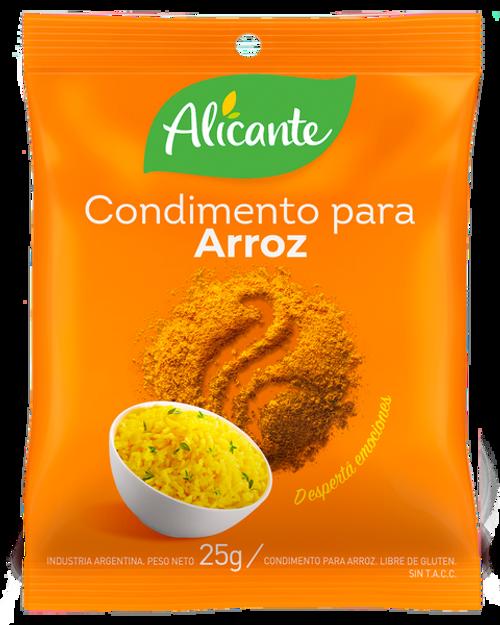 Alicante Condimento para Arróz (25 gr). Pack x 3. Argentina Select.