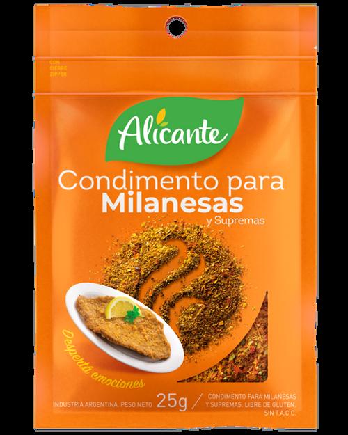 Alicante Condimento para Milanesas (25 gr). Pack x 3. Argentina Select.