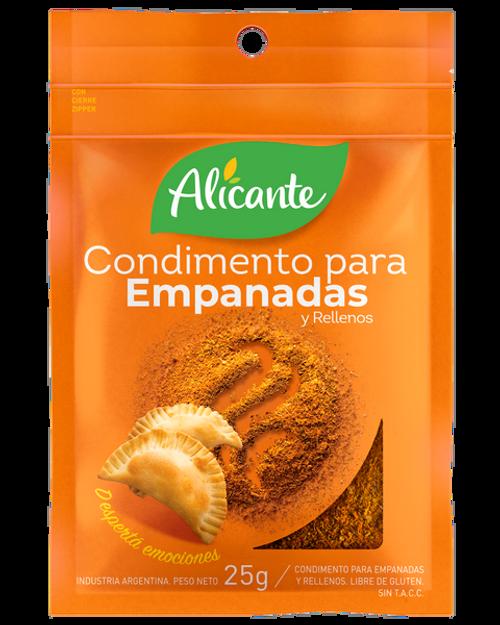 Alicante Condimento para Empanadas (25 gr). Pack x 3.