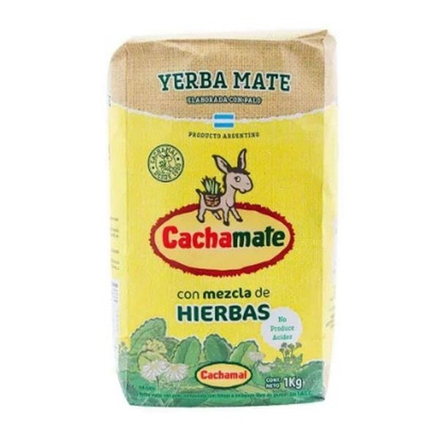 Cachamai Cachamate Yerba Mate Mixed Herbs, 1 kg / 2.2 lb. Mix de Hierbas. Argentina Select.