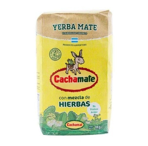 Cachamai Cachamate Yerba Mate Mixed Herbs, 1 kg / 2.2 lb (Pack x 10) $8.59 each!Argentina Select.