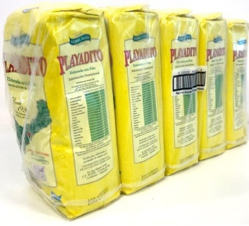 Playadito Yerba Mate Traditional Con Palo from Colonia Liebig Wholesale Bulk Pack, 1 kg / 2.2 lb ea (pack x 5) $9.39 each!  Argentina Select.