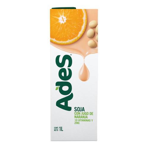 Ades con Jugo de Naranja Soy Juice Orange Flavor Tetra Pak, 1 l / 33.8 fl oz (box x 8). $6.87 each.
