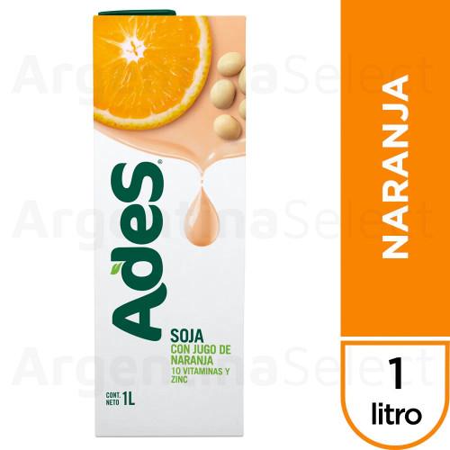 Ades Soja con Jugo de Naranja Soy Juice Orange Flavor Tetra Pak, 1 l / 33.8 fl oz (pack x16). Only $5.93 each!