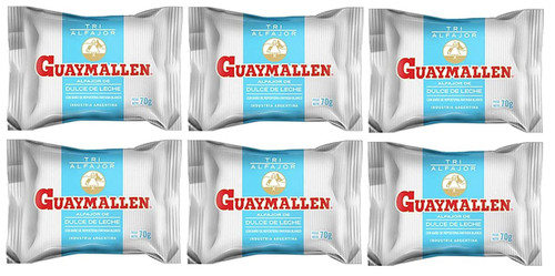 Guaymallen Alfajor Triple Chocolate Blanco with Dulce de Leche, 70 g / 2.5 oz (pack x 12). Argentina Select.
