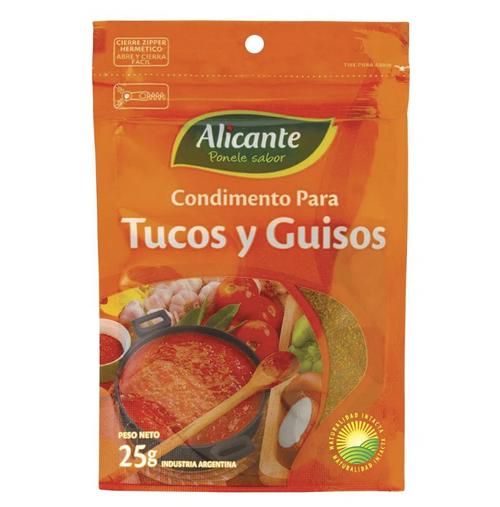 Alicante Condimento para Tuco y Guiso (25 gr). Pack x 3. Argentina Select.