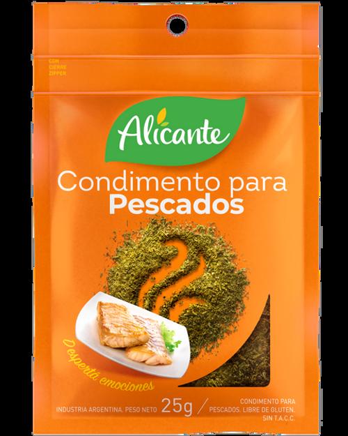 Alicante Condimento para Pescados (25 gr). Pack x 3.Argentina Select.