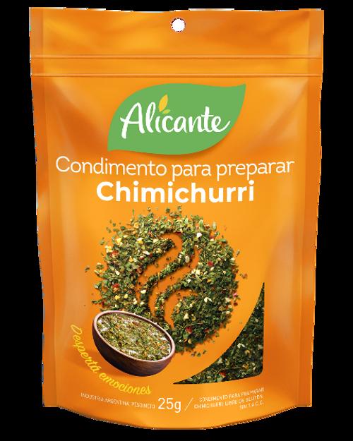 Alicante Condimento para preparar Chimichurri (25 gr). Pack x 3. Argentina Select.