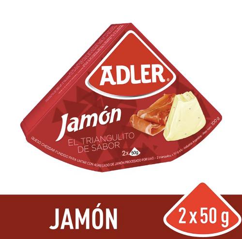 Queso Adler Jamón Ham Cheese, 100 g / 3.5 oz. Argentina Select.