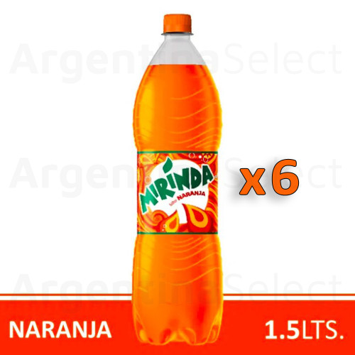 Mirinda Naranja Orange 1.5 lts. Pack x 6. Argentina Select.