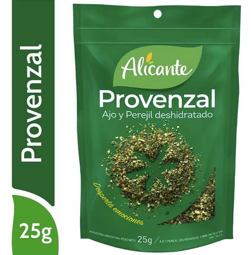 Alicante Condimento Provenzal (Ajo y Perejil) Deshidratado (25 gr). Parsley & Garlic. Pack x 3. Aromas y sabores para dar vida a tus comidas. Argentina Select.