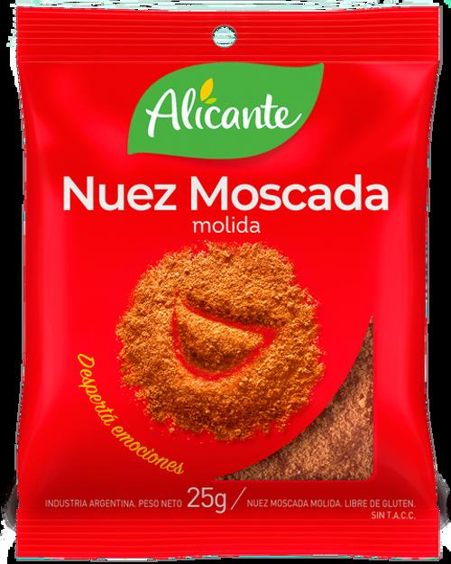 Alicante Condimento Nuez Moscada Molida (25 gr). Nutmeg. Aromas y sabores para dar vida a tus comidas. Argentina Select.