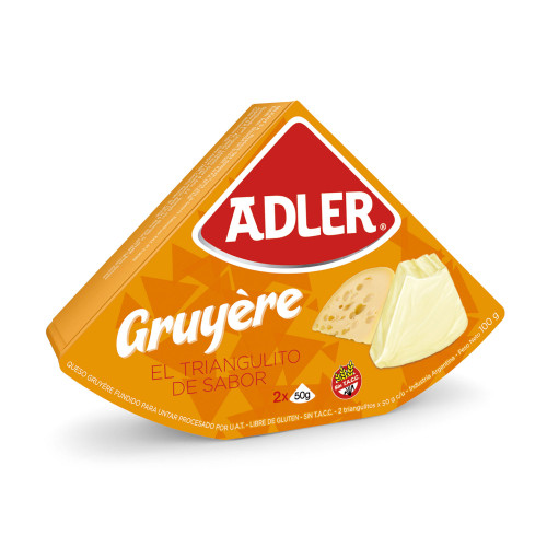Queso Adler Gruyere Cheese, 100 g / 3.5 oz. Argentina Select.