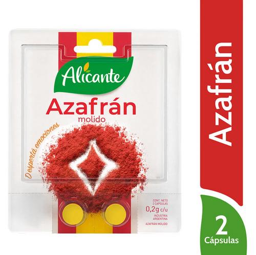Alicante Especias y Condimentos Azafran Molido | Ground Saffron, 1.41 oz. Argentina Select.